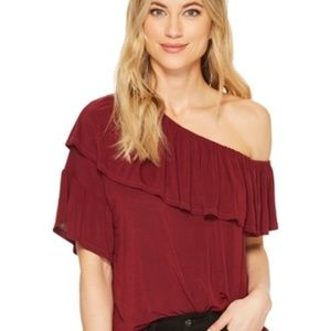 PAIGE Pax Top in Rouge